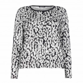 LUISA VIOLA ABSTRACT ANIMAL PRINT TOP - Plus Size Collection