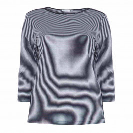 LUISA VIOLA NAVY STRIPE TOP - Plus Size Collection