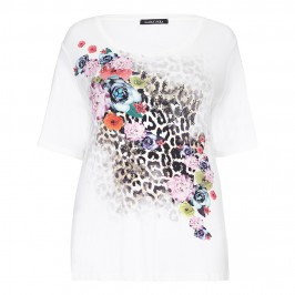 LUISA VIOLA embellished print t-shirt TOP - Plus Size Collection