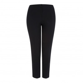 LUISA VIOLA BLACK FRONT CREASE TROUSER - Plus Size Collection