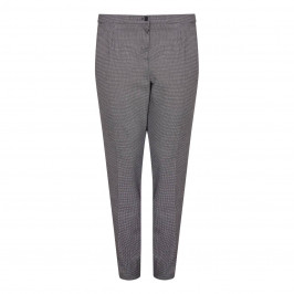 LUISA VIOLA small check TROUSERS - Plus Size Collection