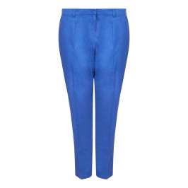 LUISA VIOLA COTTON STRETCH NARROW LEG TROUSERS - Plus Size Collection