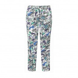 LUISA VIOLA botanical print TROUSERS - Plus Size Collection