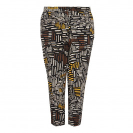 LUISA VIOLA abstract print cotton TROUSERS - Plus Size Collection