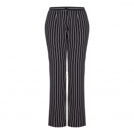 LUISA VIOLA monochrome pinstripe TROUSERS - Plus Size Collection