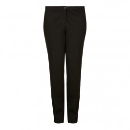 Luisa Viola black waffle TROUSERS - Plus Size Collection