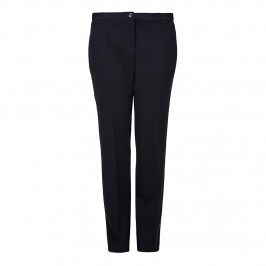 Luisa Viola navy waffle TROUSERS - Plus Size Collection