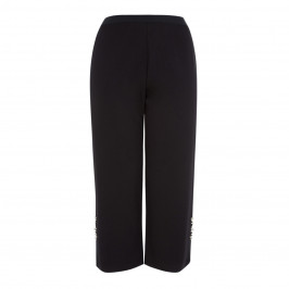 LOUISA VIOLA EMBELLISHED CROP TROUSER BLACK - Plus Size Collection