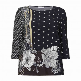 LUISA VIOLA PRINTED JERSEY TUNIC - Plus Size Collection