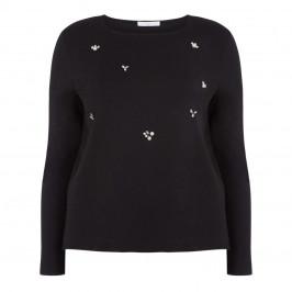Luisa Viola embellished tunic black - Plus Size Collection