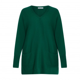 LOUISA VIOLA KNITTED TUNIC GREEN - Plus Size Collection