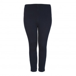 LYSSE INDIGO COTTON CROPPED DENIM LEGGING WITH ANKLE ZIPS - Plus Size Collection