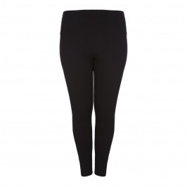LYSSE  DENIM COTTON LEGGINGS IN BLACK - Plus Size Collection