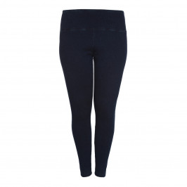 LYSSE DENIM COTTON LEGGINGS IN INDIGO - Plus Size Collection