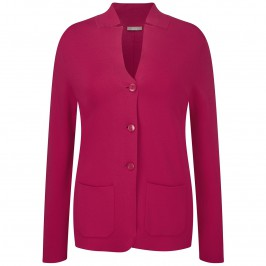 ELENA MIRO KNIT CHERRY RED JACKET - Plus Size Collection