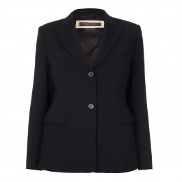 MARINA RINALDI BLACK SINGLE-BREASTED BLAZER - Plus Size Collection