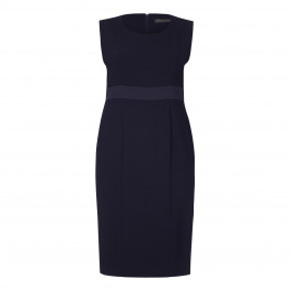 Marina Rinaldi navy DRESS with optional sleeves - Plus Size Collection