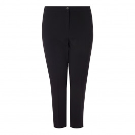 MARINA RINALDI ANKLE GRAZER FRONT CREASE TROUSER BLACK - Plus Size Collection