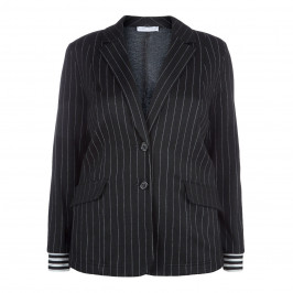 MAXIMA PINSTRIPE CLASSIC JACKET - Plus Size Collection
