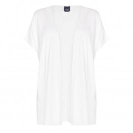 PERSONA BY MARINA RINALDI FINE KNIT GILET WHITE  - Plus Size Collection