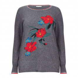 ELENA MIRO FLORAL INTARSIA SWEATER - Plus Size Collection