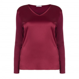 ELENA MIRO RUBY SATIN FRONT TOP  - Plus Size Collection