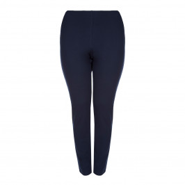 ELENA MIRO PULL ON STRETCH TROUSERS NAVY - Plus Size Collection