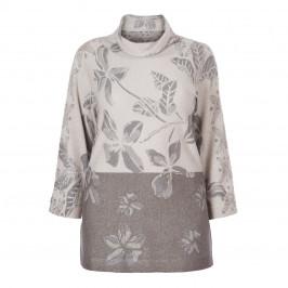 ELENA MIRO LUREX COWL NECK SWEATER - Plus Size Collection