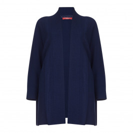 Marina Rinaldi LONG navy cotton blend CARDIGAN - Plus Size Collection