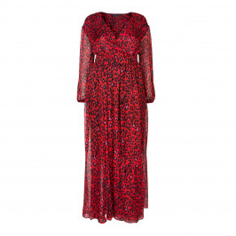 MARINA RINALDI SILK LEOPARD PRINT GOWN - Plus Size Collection