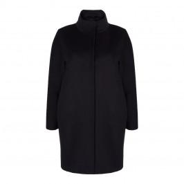 MARINA RINALDI BLACK WOOL COAT - Plus Size Collection