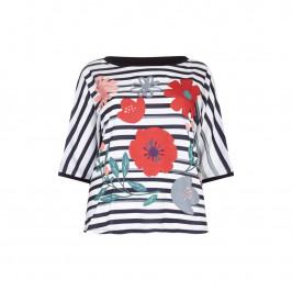 Marina Rinaldi stripe and floral print TOP - Plus Size Collection