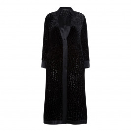 MARINA RINALDI dévoré  LONG SILK SHIRT - Plus Size Collection