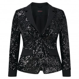 Murek BLACK SEQUINNED COCKTAIL JACKET - Plus Size Collection