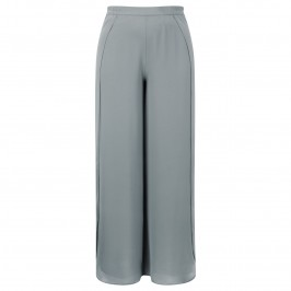 MUREK DOVE GREY CHIFFON PALAZZO TROUSERS - Plus Size Collection