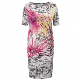 MUSETTI LARGE FLORAL PRINT JERSEY DRESS - Plus Size Collection