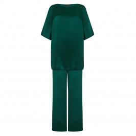 MARINA RINALDI emerald SATIN TUNIC & TROUSERS OUTFIT