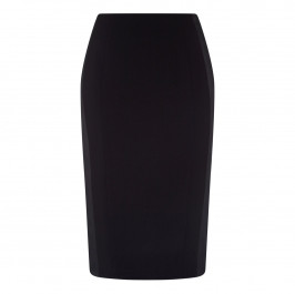 Marina Rinaldi BLACK PENCIL SKIRT WITH SATIN DETAILS - Plus Size Collection