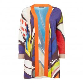 MARINA RINALDI PRINTED KIMONO STYLE CARDIGAN - Plus Size Collection