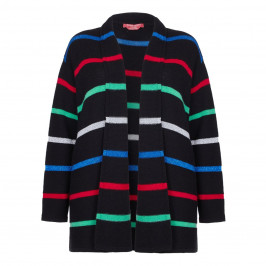 MARINA RINALDI BLACK LUREX STRIPE CARDIGAN - Plus Size Collection