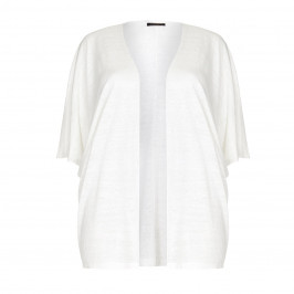 Marina Rinaldi white oversized linen mix CARDIGAN - Plus Size Collection