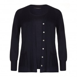 MARINA RINALDI silk and cashmere TWINSET - Plus Size Collection