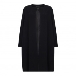 Marina Rinaldi black fluid cady COAT - Plus Size Collection