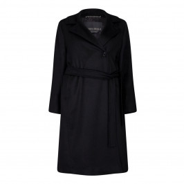 MARINA RINALDI CAMEL HAIR BLACK COAT - Plus Size Collection