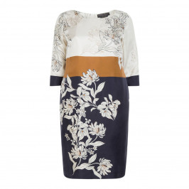 MARINA RINALDI PURE SILK PRINT DRESS