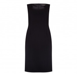 Marina Rinaldi black tailored DRESS with optional sleeves - Plus Size Collection
