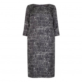 MARINA RINALDI SQUIGGLE PRINT SHIFT DRESS - Plus Size Collection