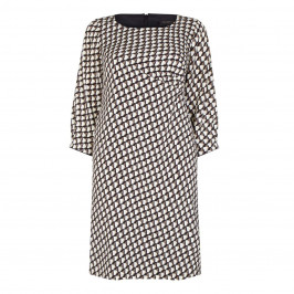 Marina Rinaldi print crepe dress with ruching detail - Plus Size Collection