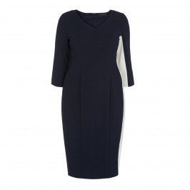 MARINA RINALDI NAVY BODYCON DRESS  - Plus Size Collection