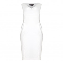 Marina Rinaldi white sheath DRESS + opt sleeves - Plus Size Collection